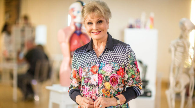 Programme Name: How to Stay Young - TX: n/a - Episode: n/a (No. Generics) - Picture Shows: in the anti-ageing lab. Angela Rippon - (C) BBC - Photographer: Sean Elliott